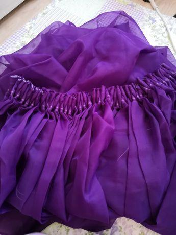 Zasłona lub firanka fioletowa