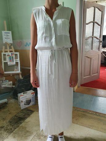 Sukienka bez rękaw biała kappahl 36 38 S M