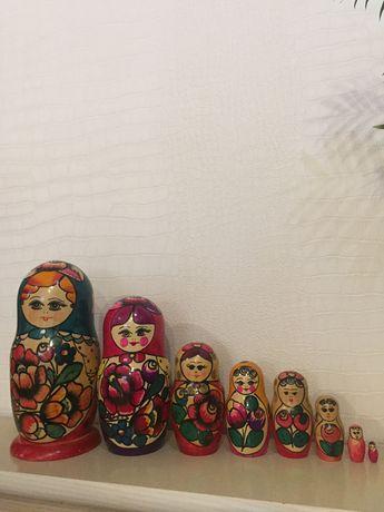 Матрёшка набор русская розрисованная