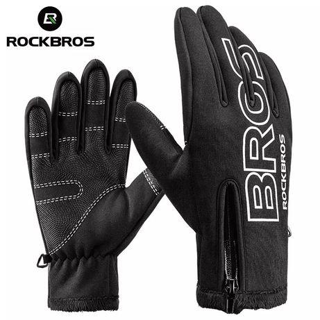 Зимние велосипедные теплые перчатки RockBros спортивные лыжные