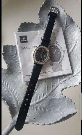 Zegarek Tchibo na skórzanym pasku