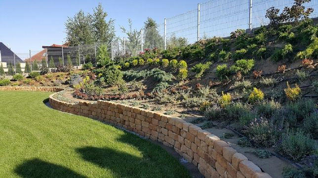 Kamień cegła na murki ozdobne ogrodzenie w ogrodzie ogrodowy grilla