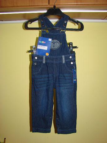 Ogrodniczki jeansowe rozm. 86 cm.