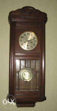 Старинные антикварные настенные часы Gustav Becker
