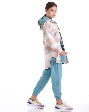 Теплая рубашка в клетку 134-164 куртка ветровка