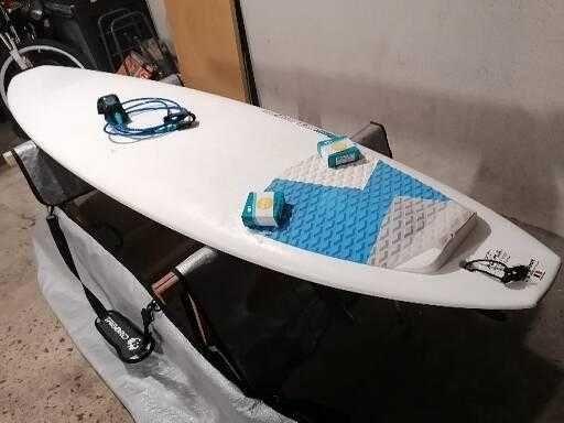 7.2 Malibu 7 Evolution Funboard prancha de surf deck fins FCS