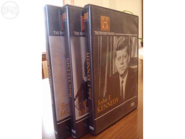 DVD's J.F.Kennedy - Boris Yeltsin - Benito Mussolini