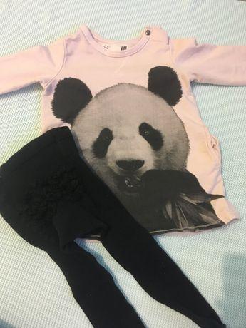 Dziewczynka 74 cm Tunika , bluzy, czapeczka i komin buciki hm