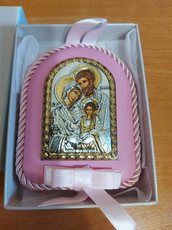 Икона подарочная на крещение для девочки
