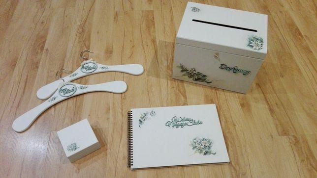 Skrzynka drewniana na koperty, obrączki,podziękowania