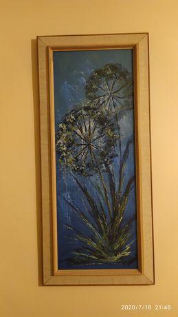 Obraz olejny Dmuchawce lata 50