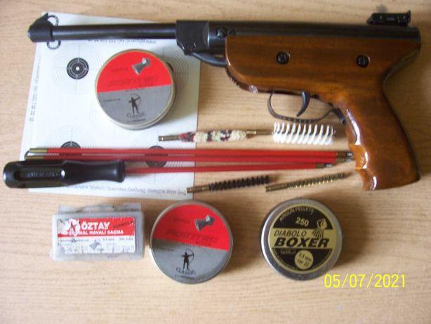 Wiatrówka-pistolet +zestaw.