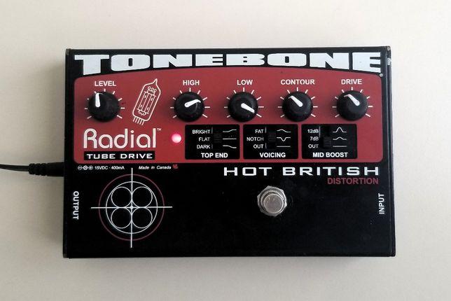 Radial Tonebone Hot British Distortion лампова mid-high gain педаль