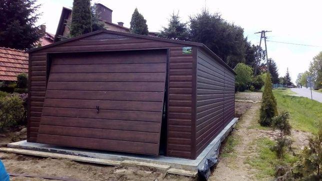 Garaż blaszany 4x7 POZIOMY trapez ! PROFIL NOWOŚĆ Garaże blaszane