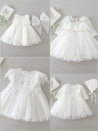 Sukienka na chrzest rozmiar 74 - 92