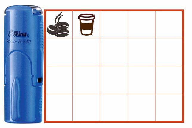 Печати маленькие для бонусных карточек Кофейни, Штамп Без документов