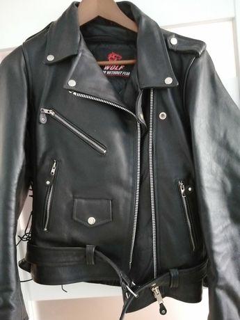 Nieużywana skórzana kurtka motocyklowa M damska