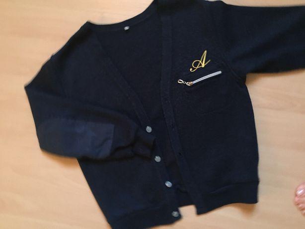 Школьный пиджак трикотажный