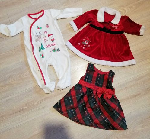 Sukienka świąteczna Mikołajka