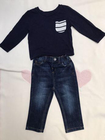 Komplet dla chłopca bluzka dżinsy PRIMARK 80 (9-12 mies.)