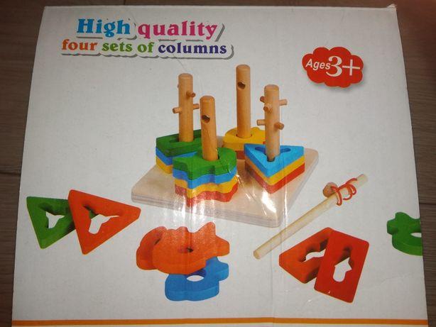 Zabawka drewniana ekologiczna dla 3 latka