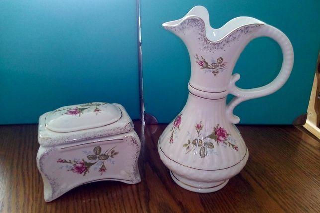 cukiernica porcelanowa i wazon Chodzież