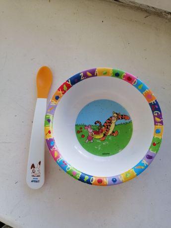 Ложка avent +тарелочка
