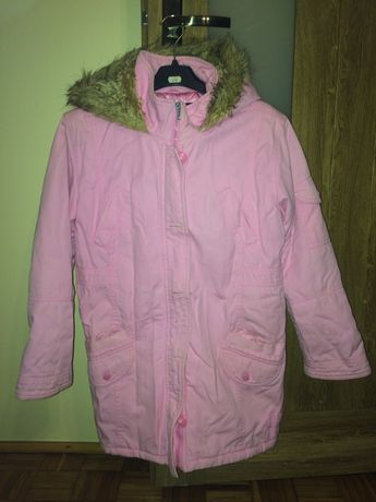 Rożowa kurtka zimowa