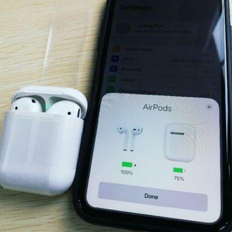Bluetooth наушники AirPods 2 Аирподс pop up навушники Siri