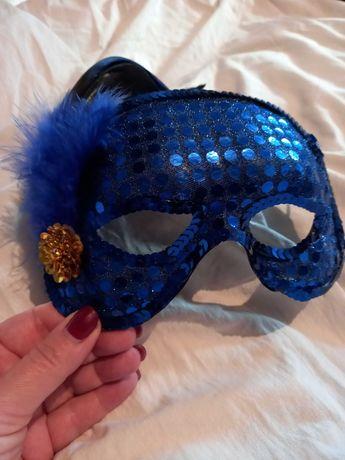 Маска синяя утренник карнавал вечеринка
