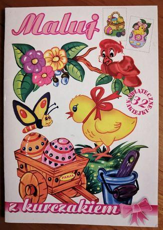 """""""Maluj z kurczakiem"""" – malowanki z naklejkami."""