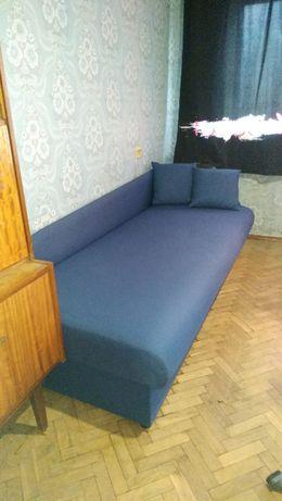 диван софа тахта 208х90 синий ортопедический матрас пружины