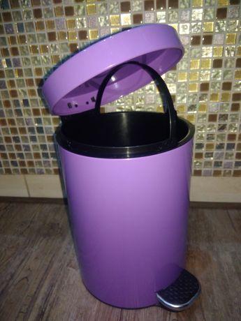 Kosz na śmieci łazienkowy, fioletowy