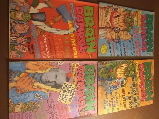 Komiks Brain Damage, Vol. 1, No.2,3,4,5