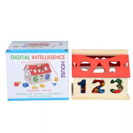 Деревянный игрушечный дом с номером для детей, развивающие интеллектуа