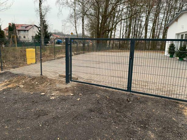 Brama dwusrzydłowa H-2m L-4 m ocynk+mal zielona - dostępna- Szczecin