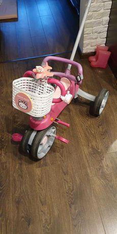Rowerek dziecięcy trójkołowy threasy b'twin 3w1 Hello Kitty.