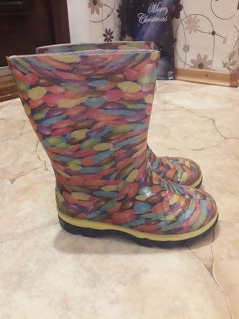 Сапоги резиновые непромокаемые ботинки на девочку