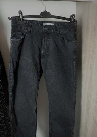 Spodnie jeansy czarne bershka