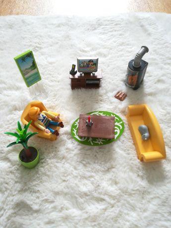 Playmobil dollhouse, meble do domku, salon z piecykiem 5308