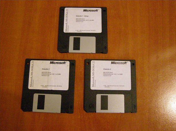 3 dyskietki MS DOS