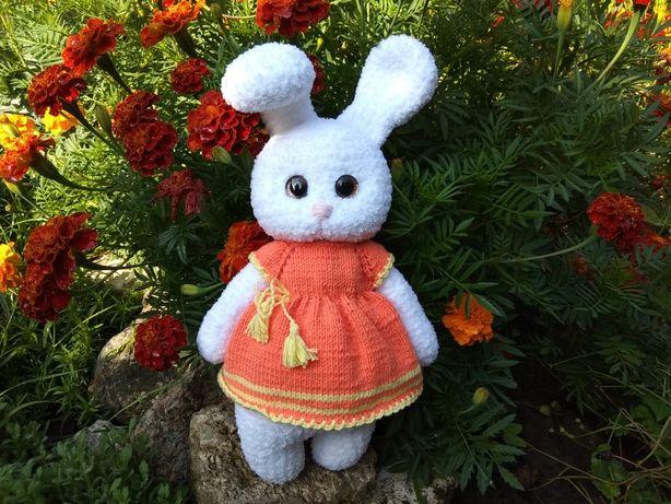 Зайка плюшева Морковка