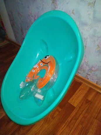 Детская ванночка + надувной круг на шею 0+