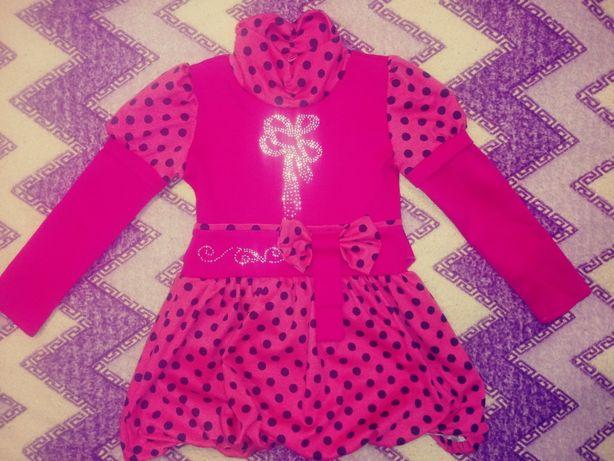 Платье для девочки на 3-4 года с рукавами