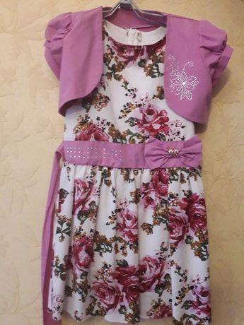 дитяче літнє плаття з болеро