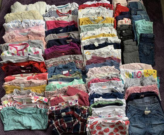 Zestaw ubrań 86 dziewczynka paka
