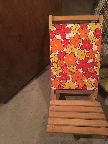 Male lezaki drewniane skladane kompaktowe krzesła