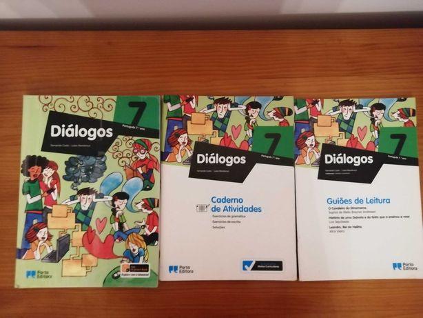 Diálogos 7ºano - Manual, Caderno de atividades e Guião de leitura