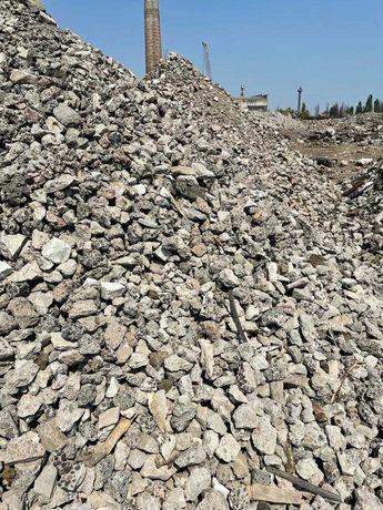 Щебень вторичный 40-70мм, подсыпка, бетон дробленый 0-100мм