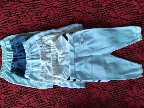 6 x spodnie spodenki r.50-62, 0-3m. Firmy George x3 M&S Disney name it